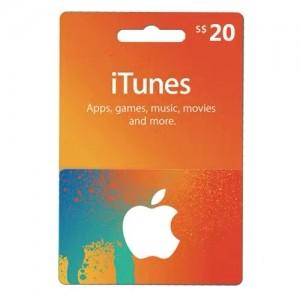 新加坡苹果iTunes商店礼品卡兑换码 APPLE APP STORE GIFTCARD 自动发卡 20新币