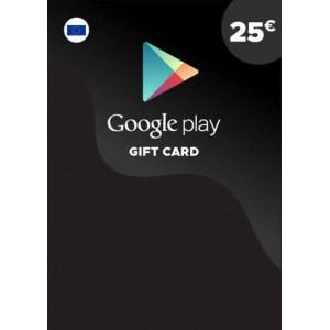 25欧元 欧洲谷歌Play礼品卡兑换码 Google Play Gift Card Redeem Code 谷歌25欧元兑换代码