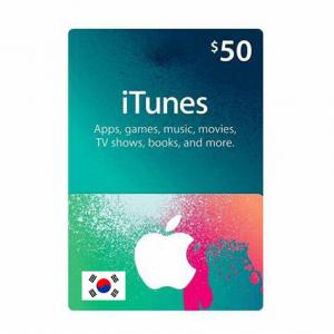 韩国苹果iTunes礼品卡兑换码-面值$50-手游代充-APP内购代充
