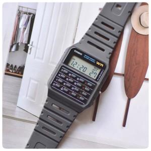 卡西欧CASIO简约复古计算器电子液晶手表