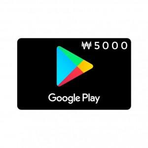 5000韩元韩国谷歌Play礼品卡Google Play礼品卡