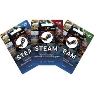 美国Steam充值卡兑换码20美金30美金50美金100美金美元钱包充值USD