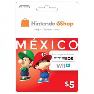 NS任天堂eShop墨西哥服 México Nintendo eShop Gift Card 充值卡 200 500比索 墨西哥币 Switch点卡