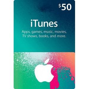 50美元美国苹果手机苹果商店APP STORE iTunes Apple gift card 礼品卡兑换码100%不封号 美国iTunes礼品卡
