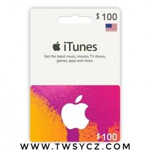美国苹果iTunes商店礼品卡兑换码App-Store-100美元-100美金美刀  美国iTunes礼品卡