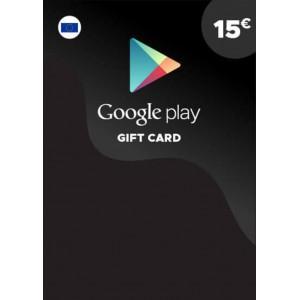 15欧元 欧洲谷歌Play礼品卡兑换码 Google Play Gift Card Redeem Code 谷歌15欧元兑换代码