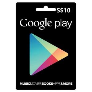 新加坡-GOOGLE-PLAY-GiftCard-谷歌礼品卡充值卡-10新币-10SGD