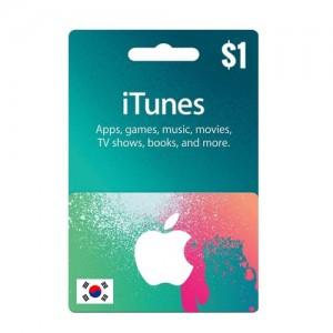 韩国苹果iTunes礼品卡兑换码APP STORE GIFT CARD 面值$1 非礼品卡发货