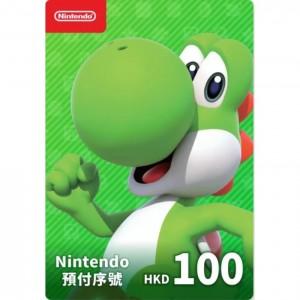 香港任天堂 Nintendo eShop Switch 点卡 充值卡 预付费卡 预付序号 港服100HKD 100港币港元