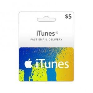 5美元美国苹果手机苹果商店APP STORE iTunes Apple gift card 礼品卡兑换码100%不封号 美国iTunes礼品卡