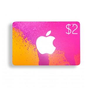 2美元美国苹果手机苹果商店APP STORE iTunes Apple gift card 礼品卡兑换码100%不封号  美国iTunes礼品卡