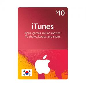 韩国苹果iTunes礼品卡兑换码-面值$10-手游代充-APP内购代充