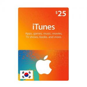韩国苹果iTunes礼品卡兑换码-面值$25-手游代充-APP内购代充
