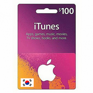 韩国苹果iTunes礼品卡兑换码-面值$100-手游代充-APP内购代充