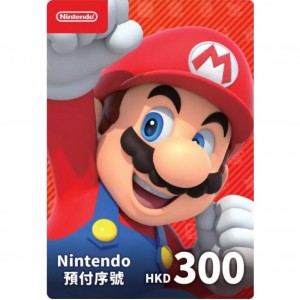 香港任天堂 Nintendo eShop Switch 点卡 充值卡 预付费卡 预付序号 港服300HKD 300港币港元