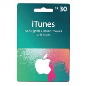 新加坡苹果iTunes商店礼品卡兑换码 APPLE APP STORE GIFTCARD 自动发卡 30新币