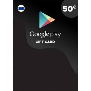 50欧元 欧洲谷歌Play礼品卡兑换码 Google Play Gift Card Redeem Code 谷歌50欧元兑换代码