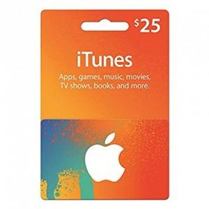 25美元美国苹果手机苹果商店APP STORE iTunes Apple gift card 礼品卡兑换码100%不封号 美国iTunes礼品卡