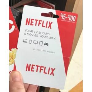 美国Netflix Gift Card 50美金充值预付卡礼品卡