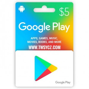 美国谷歌Play礼品卡5美元 Google Play Gift Card US$5